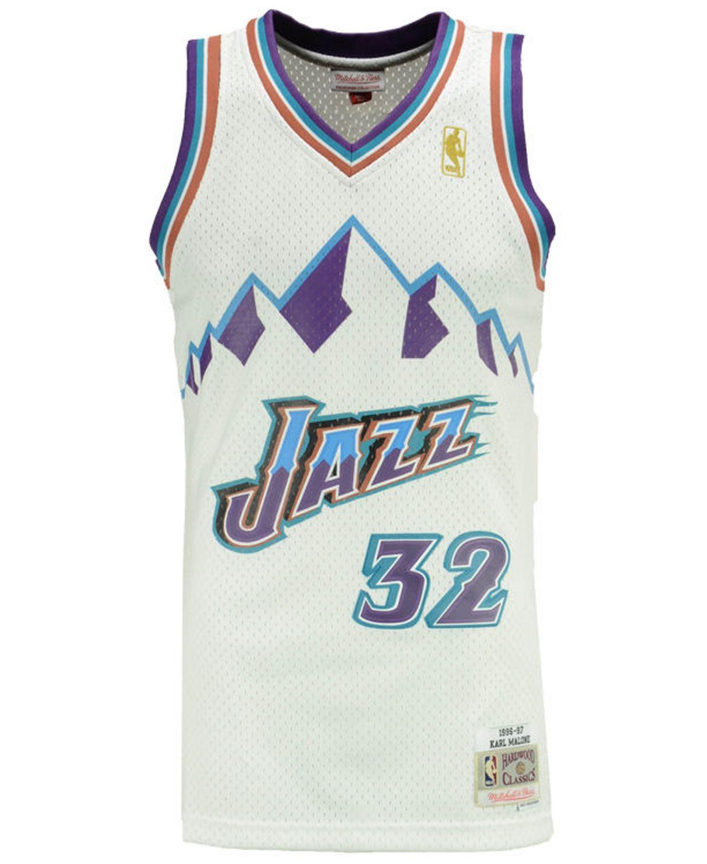 Mitchell & Ness Men's Karl Malone Utah Jazz Hardwood Classic Swingman Jersey & Reviews - Sports Fan Shop By Lids - Men - Macy's