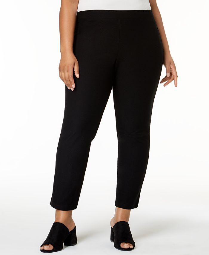 Eileen Fisher - Plus-Size SYSTEM Ponté-Knit Slim Pants