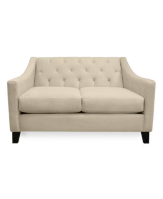 Chloe Velvet Tufted Sofa Custom Colors Furniture Macy S