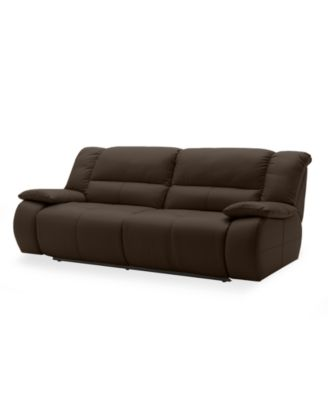 Franco Leather Reclining Sofa, Double Power Recliner 86
