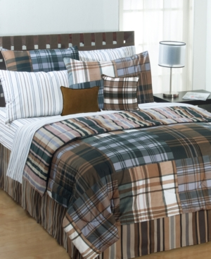 Bentley Plaid 4 Piece Queen Comforter Set Bedding