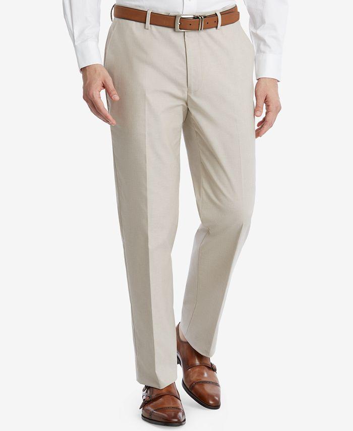 Tommy Hilfiger - Men's Modern-Fit Flex Stretch Khaki Suit Pants