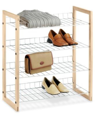 Whitmor Closet Storage Shelves, Wood and Chrome