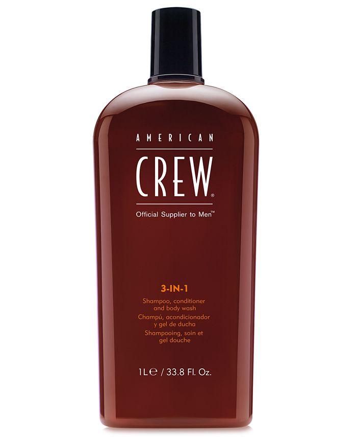 American Crew - 3-In-1 Shampoo, Conditioner & Body Wash, 33.8-oz.