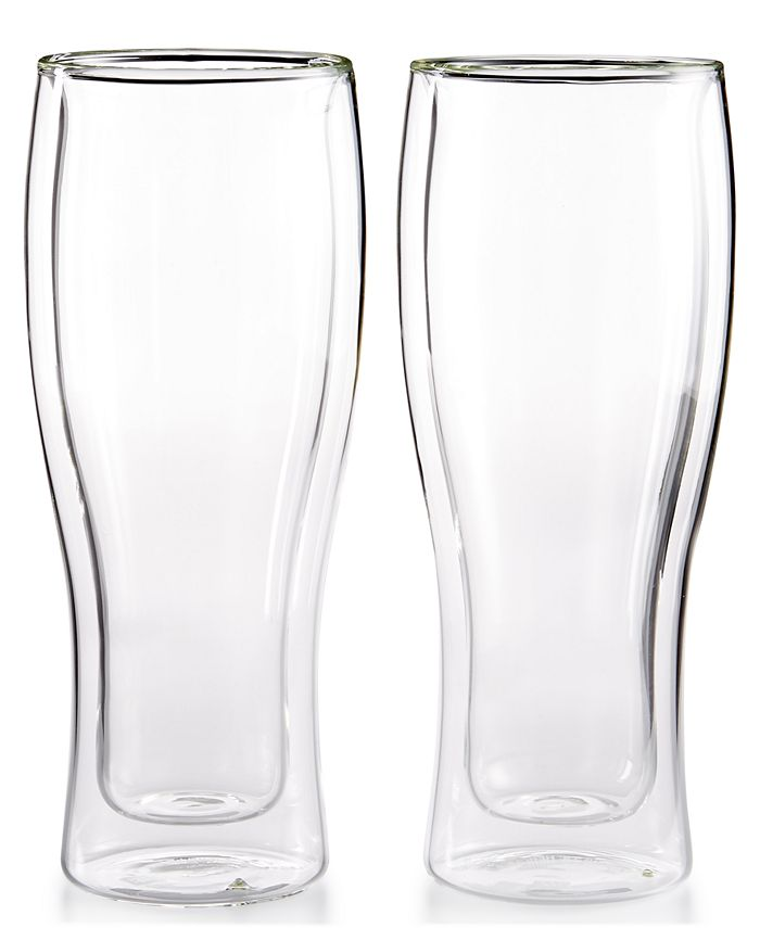 J A Henckels Zwilling Sorrento Double Wall Beer Glasses Set Of 2 Reviews Glassware Drinkware Dining Macy S