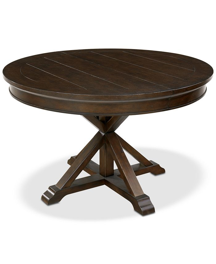 Furniture Baker Street Round Expandable Dining Table Created For Macy S Reviews Furniture Macy S