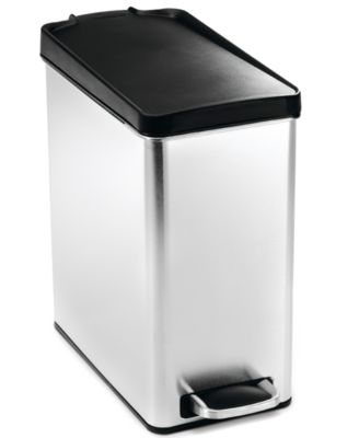 simplehuman Trash Can, 10 Liter Profile Step