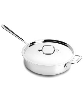 CLOSEOUT! All-Clad Stainless Steel 3 Qt. Covered Saute Pan