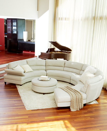 Franchesca Leather Sectional Living Room Furniture