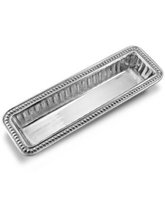 Wilton Armetale Serveware, Flutes and Pearls Cracker Tray