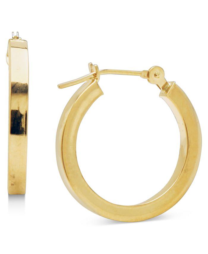 Macy's - 14k Gold Earrings, Polished Square Hoops