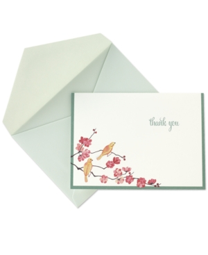Crane Stationery, Flowering Branches Thank You Notes