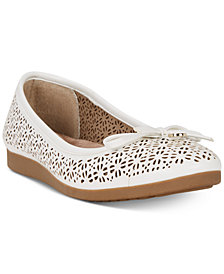 Giani Bernini Odeysa Memory Foam Perforated Ballet Flats, Created for Macy's