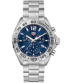 TAG Heuer Men's Swiss Chronograph Formula 1 Stainless Steel Bracelet Watch 43mm