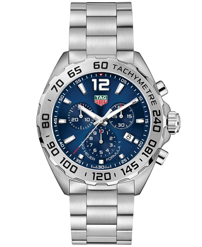 TAG Heuer - Men's Swiss Chronograph Formula 1 Stainless Steel Bracelet Watch 43mm