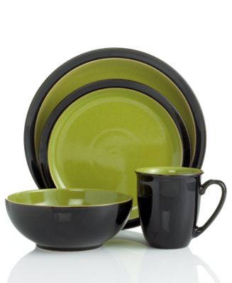 Denby Dinnerware, Duets Black 4 Piece Place Setting