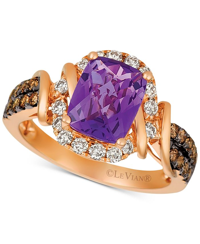 Le Vian - Grape Amethyst™ (1-3/4 ct. t.w.) & Diamond (5/8 ct. t.w.) Ring in 14k Rose Gold