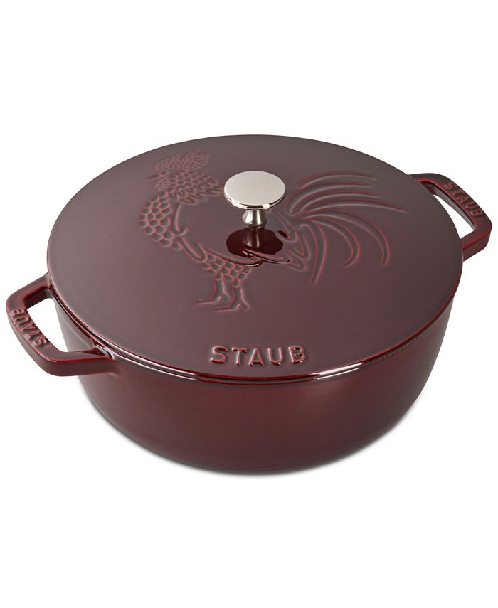 Staub - Cast Iron 3.75-qt Essential French Oven & Rooster Lid