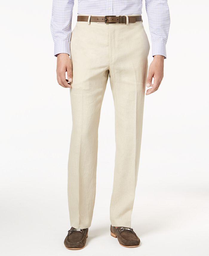 Lauren Ralph Lauren - Men's Classic-Fit Solid Linen Dress Pants