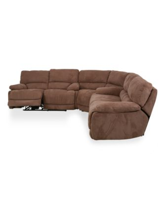 Nina Fabric 3 Piece Power Reclining Sectional Sofa (Sofa, Wedge And  Loveseat)