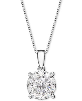 Diamond pendant necklace in 14k white gold 12 ct tw diamond pendant necklace in 14k white gold 12 ct tw aloadofball Gallery