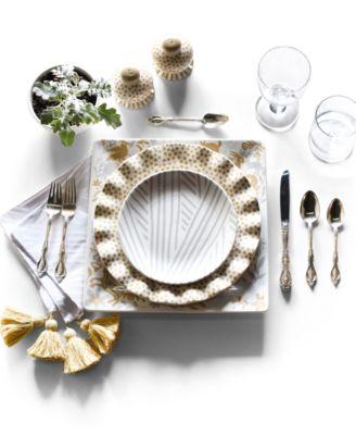 by Laura Johnson Cobble Small Dot Ruffle Dinner Plate
