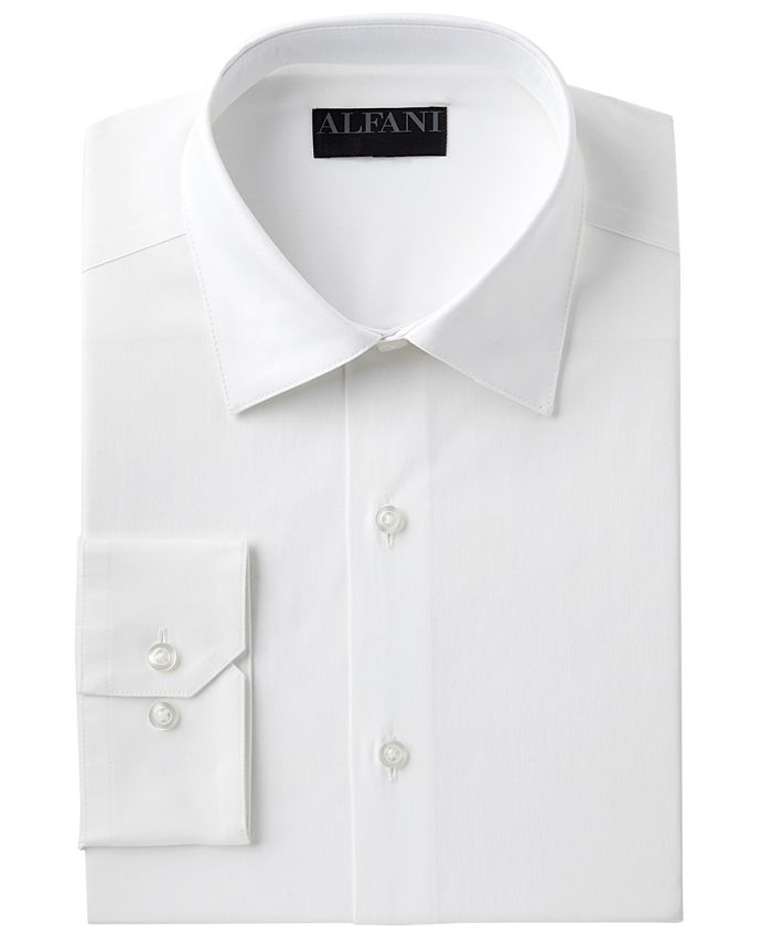 Alfani - Men's Slim-Fit Performance Stretch Easy-Care Solid Dress Shirt
