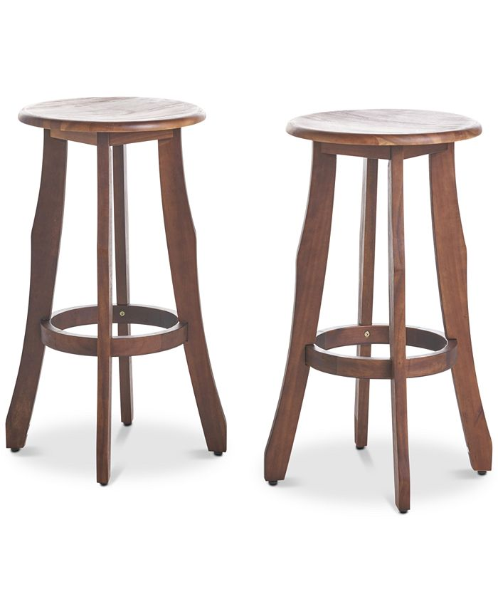 Noble House - Carmel Outdoor Barstools (Set of 4), Quick Ship