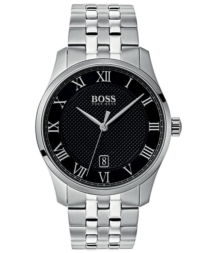 BOSS - Men's Master Stainless Steel Bracelet Watch 41mm