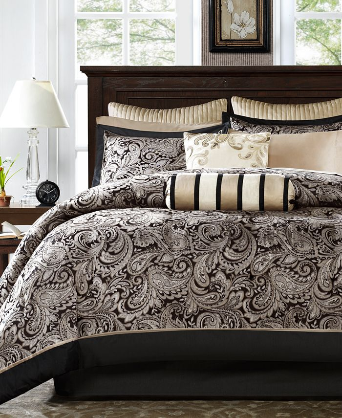 Madison Park - Aubrey 12-Pc. Queen Comforter Set