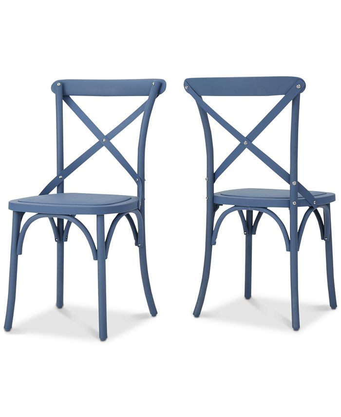 Noble House - Maxwell Outdoor Dining Chairs (Set of 2), Quick Ship