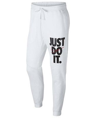 Nike Men's Sportswear Just Do It Fleece Joggers & Reviews ...
