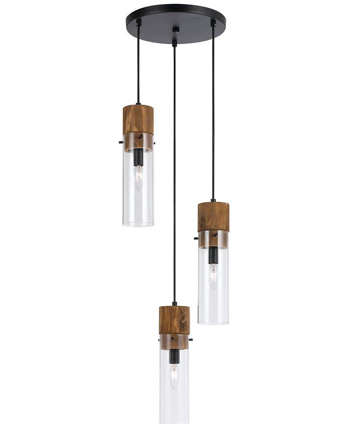 Cal Lighting - 60W 3-Light Spheroid Glass Pendant