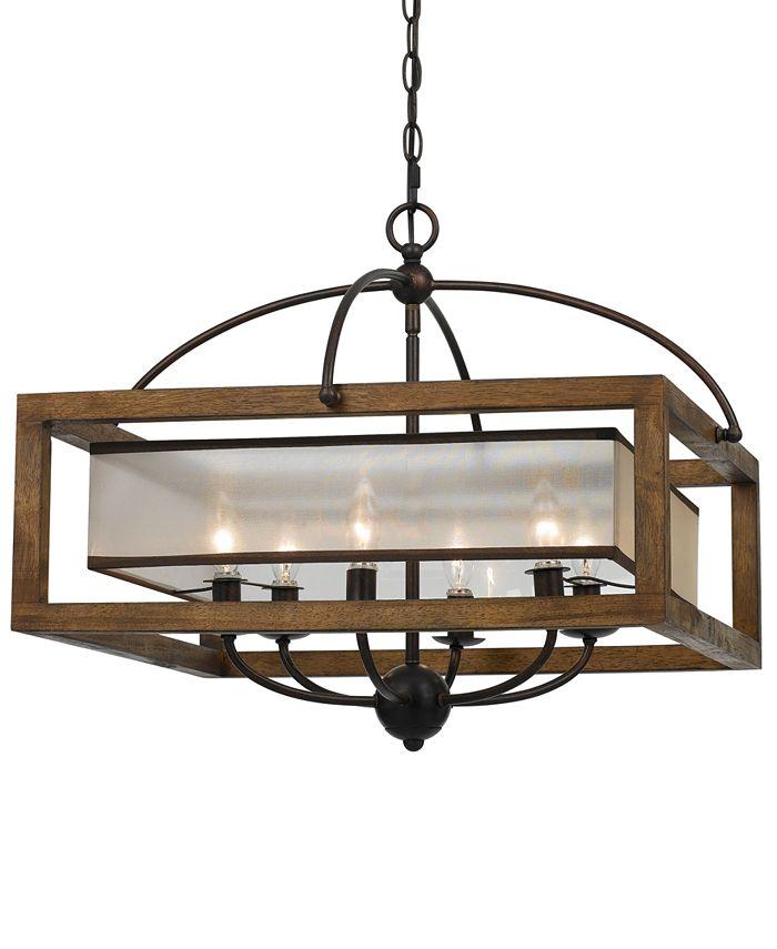 Cal Lighting - 60W 6-Light Square Chandelier