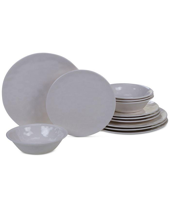 Certified International - Cream 12-Pc. Dinnerware Set, Service for 4