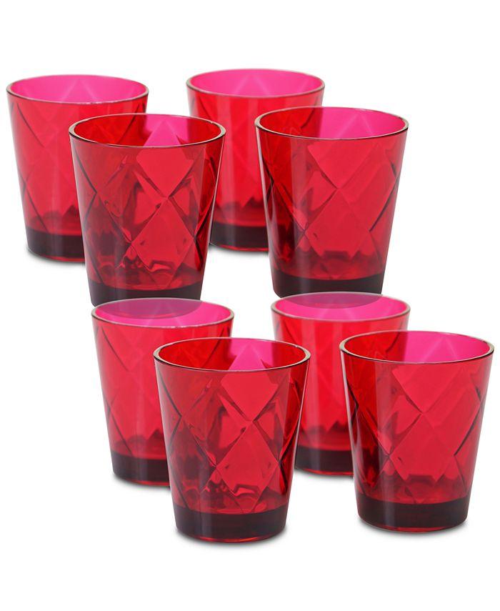 Certified International - Ruby Diamond Acrylic Set of 8 Glasses