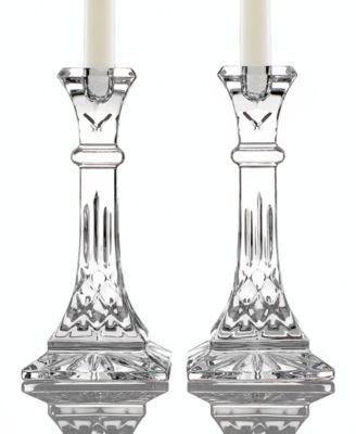 "Waterford Gifts, Lismore Candle Holders 8"", Set of 2"