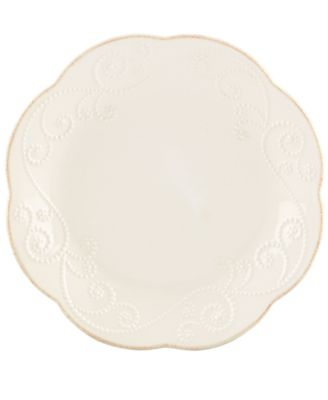 Lenox Dinnerware, Set of 4 French Perle White Dessert Plates