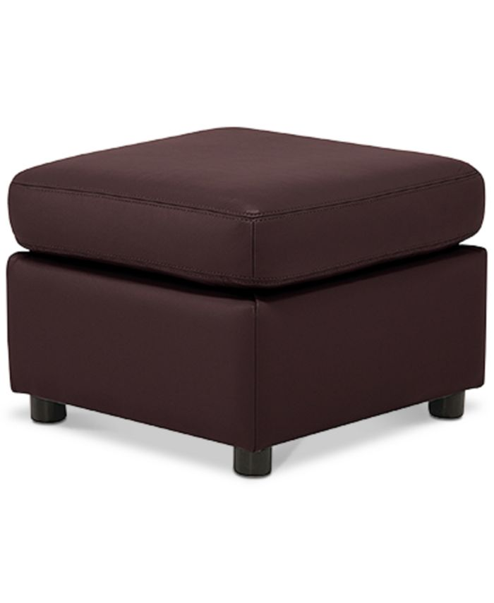 Furniture - Ennia Leather Ottoman