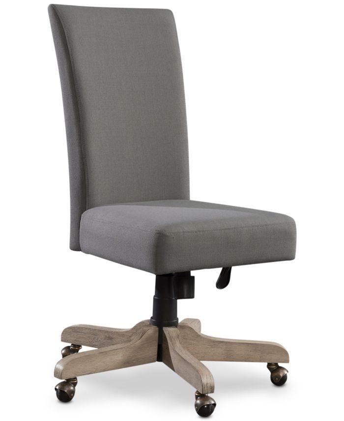 Furniture Ridgeway Home Office Furniture, 4-Pc. Set (Return Desk, Peninsula USB Outlet Bookcase, Upholstered Desk Chair, & Mobile File Cabinet) & Reviews - Furniture - Macy's