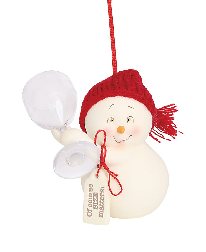 Department 56 - Snowpinions Of Course Size Matters Ornament