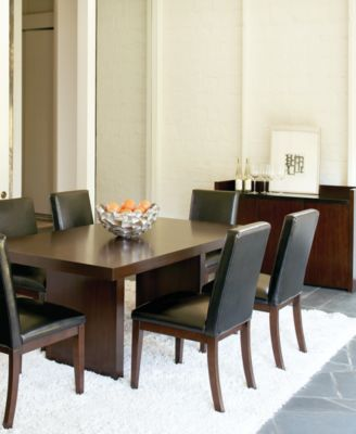 Bari Brown Pc Dining Set Table   Chairs Furniture Macys - Macys dining room sets