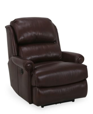 Rigby Fabric Power Recliner Furniture Macy S