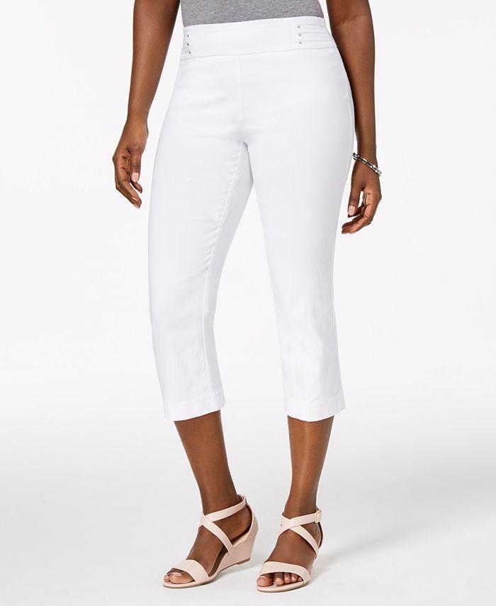 JM Collection - Embellished Pull-On Capri Pants