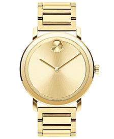 Movado Men's BOLD Evolution Gold-Tone Stainless Steel Bracelet Watch 40mm