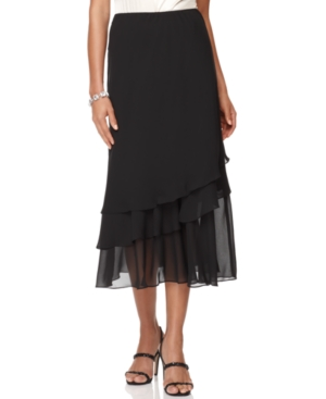 Buy 1920s Style Skirts Pleated Chiffon Hank Hem