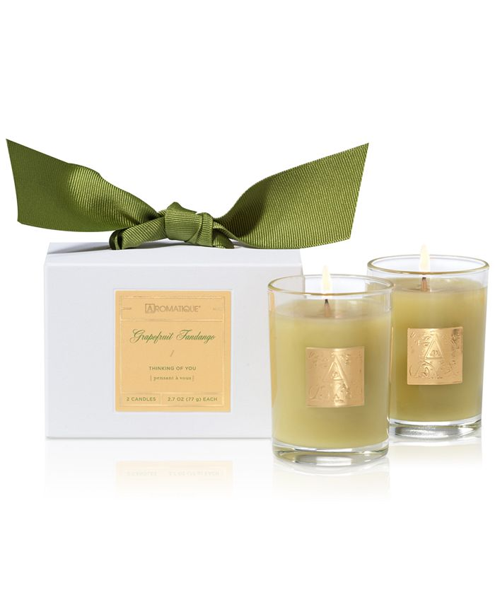 Aromatique - Grapefruit Fandango Boxed Votive Candles, Set of 2