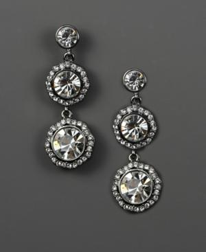 Givenchy Earrings, Crystal Linear Drop Earrings