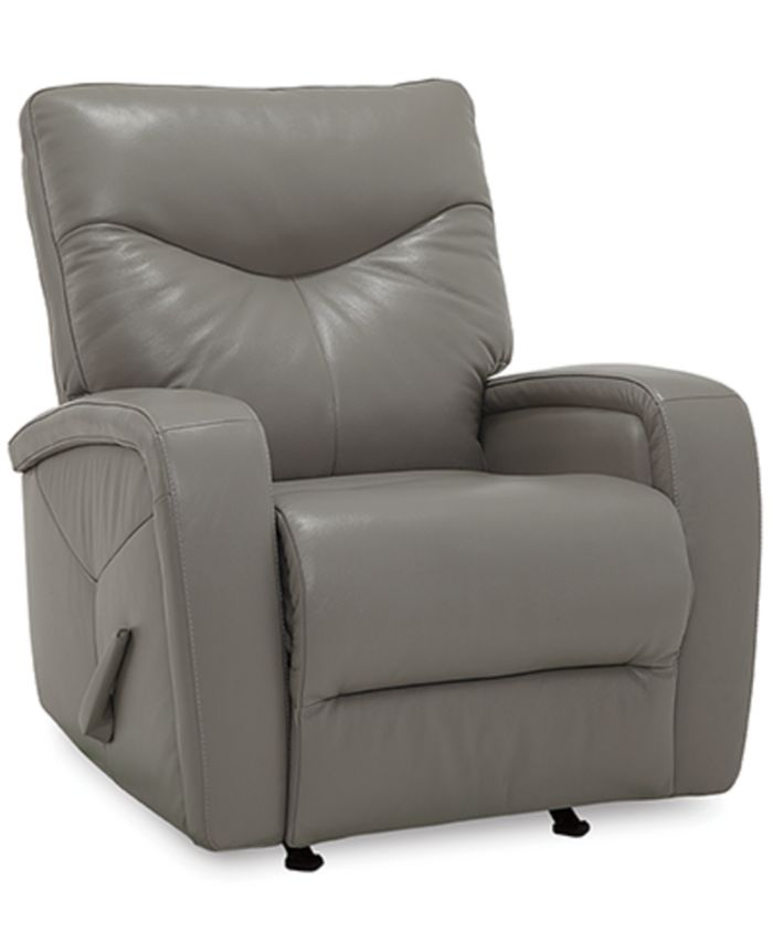 Furniture Erith Leather Rocker Recliner Reviews Furniture Macy S
