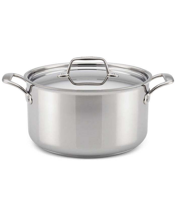 Breville - Thermal Pro Clad Stainless Steel 8-Qt. Stockpot & Lid